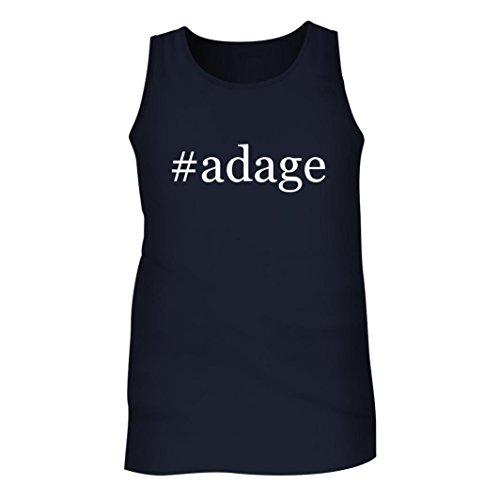 Adage Tickets (#adage - Men's Hashtag Adult Tank Top, Navy, Medium)