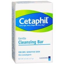Cetaphil Gentle Cleansing Bar for Skin 4.5 oz. (Quantity ...