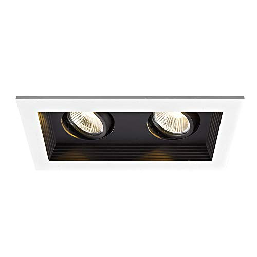WAC Lighting MT-3LD211R-W927-BK Mini Multiple LED Two Remodel Housing with Trim and Light Engine 2700K Narrow Black, 45° Beam Angle