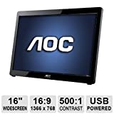 AOC USB-Powered Portable LED Monitor, 16-Inch (Refurbished)