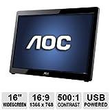 AOC USB-Powered Portable LED Monitor, 16-Inch (Refurbished)