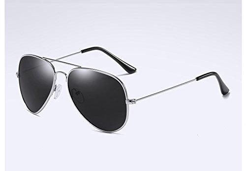 Atrás Gris Sol Gafas TL de Hombre silver la de de Guía Aleación grey Plata Sunglasses Sol polarizadas UV400 Gafas Sol Gafas en wfYxrY87qU