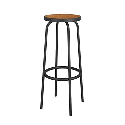 Simple Iron Lounge Chair / Retro Bar, Cafe Bar Stool / Highchair / Solid Wood High Stool by Xin-stool
