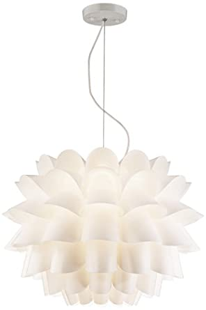 possini euro design white flower pendant chandelier. Black Bedroom Furniture Sets. Home Design Ideas