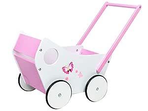 MALATEC Andador de muñeca-bebé de Madera, empujador para niña #4583