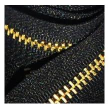 """15\"""" Medium Weight Jacket Zipper YKK #5 Brass ~ Separating ~ 580 Black (1 Zipper/pack)"""