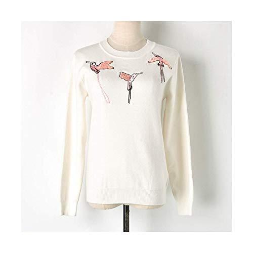 Home Size S Inverno Girocollo White Donna A Autunno Maniche Con color Mon5f Pullover White Lunghe 1OSqf1d7
