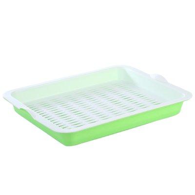 CWAIXX Rettangolare doppio scarico vaschetta plastica portafrutta condimento vassoio vassoio tazza vassoio vassoio living room , Verde