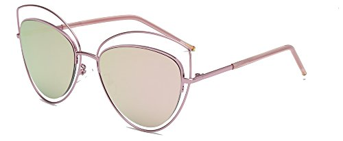 ALWAYSUV Double Wire Double Rimmed Oval Lens Metal Frame Vintage Cat Eye - Rimmed Wire Glasses Frames