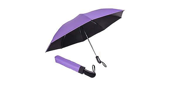JUNDY Paraguas portátil Mini Plegable Resistente al Viento – Duradero Paraguas de Viaje Sombrilla Triple Plegable Parasol automático colour4 95cm: Amazon.es: Hogar