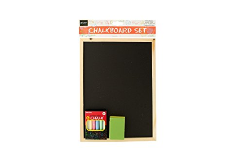 Chalkboard Set Includes Colorful Chalk, Board, and Eraser School Play Restaurant Menu Teaching Supplies Kid Size Bulk Buys OF462