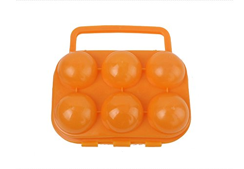 niceeshopTM-Outdoor-Picnic-Garden-Portable-Plastic-Egg-Carton-Egg-Storage-BoxRandom-Color