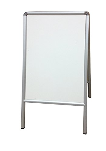 Fantastic Displays A-Frame Dry Erase Marker Board Aluminum Framed White for Office Shops or Schools