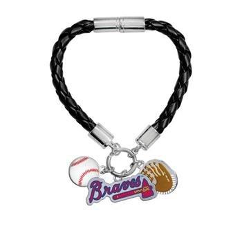 Game Time Offical MLB ATLANTA BRAVES Charm Bracelet