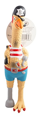 Westminster Pet Ruffin' It Captain Jack Chicken Latex Dog Toy, by Westminster Pet For Sale