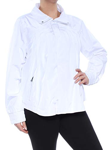 - DKNY Sport Womens Spring Water Repellant Bomber Jacket White L