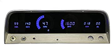 1964-1966 Chevy Truck Digital Dash Panel Blue LED Gauges Made In The USA