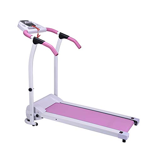 Murtisol 800W Folding Treadmill Electric Walking Running Exercise Fitness Machine Easy Control Home Gym,Easy Assembly,Pink