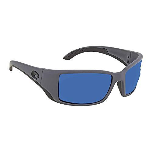 Costa Del Mar Blackfin Sunglasses Matte Gray/Blue Mirror ()