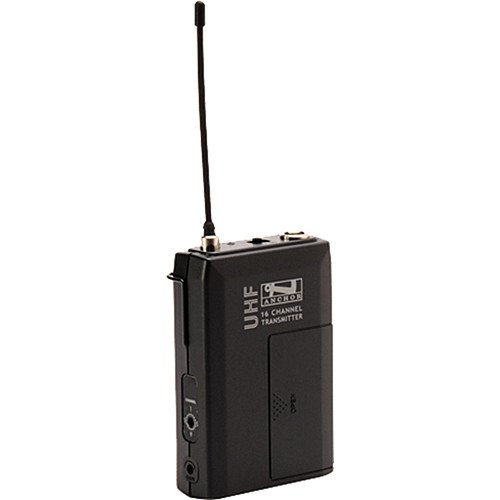 Anchor Audio WB-8000 16 Channel UHF Wireless Belt Pack Transmitter for 8000 Series Sound Systems, 540-570MHz Frequency Range