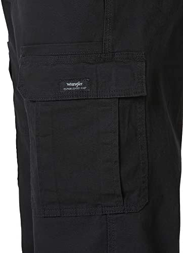 31K NWiNFjL. AC Wrangler Authentics Men's Stretch Cargo Pant    Wrangler Authentics Men's Classic Cargo Stretch Twill Pant. This classic cargo pant is constructed with durable materials built for long-lasting comfort. This cargo pant sits at the natural waist and features a relaxed fit through seat and thigh. Stretch fabric moves with your body, whether you're working in the yard or busy with the family on the weekend. (6) Pockets. (2) cargo side pockets (2) back patch pockets, and (2) slash pockets. ImportedZipper closureMachine WashRELAXED FIT. These cargo pants sit at the natural waist. Designed with a relaxed fit through the seat and thigh, these cargos will keep you comfortable during any task.STRETCH TWILL. A Wrangler classic, these straight-leg men's pants have stretch and flexibility for comfort in movement. A Hollywood waistband offers extra support with your favorite belt.CLASSIC CARGO PANT. This classic cargo pant is sure to be comfortable and functional for everyday wear. From the outdoors to work, this pant is built for versatility with a timeless silhouette and extra storage.