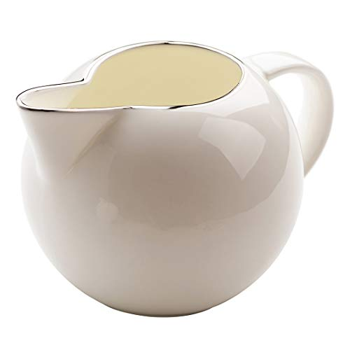 - Cool Lemon Nordic Style Simple Bone China Porcelain Ceramic Golden Line Creamer Pitcher Milk Jar Gift for Friends