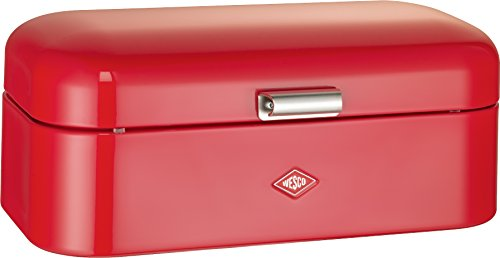 Wesco Grandy – German Designed - Steel bread box for kitchen/storage container, Red by Wesco