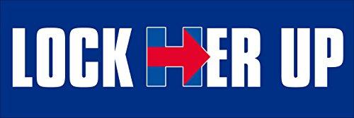 American Vinyl Lock HER UP Bumper Sticker (pro Trump Anti Hillary Clinton h)