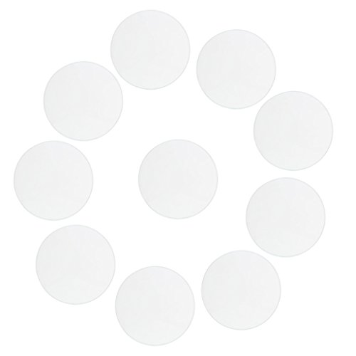 MagiDeal 10 Pieces Thick Round Flat Watch Crystal Mineral Glass Watch Parts 28.5-34mm - Clear, 30mm - Flat Mineral Crystal