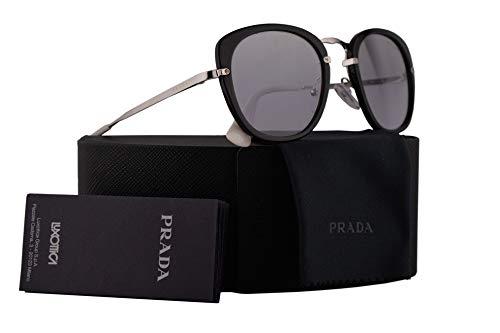 Prada PR58US Sunglasses Dark Havana w/Violet Mirror Gradient Silver 49mm Lens 2AU210 SPR58U PR 58US SPR - 49mm Sunglasses Prada
