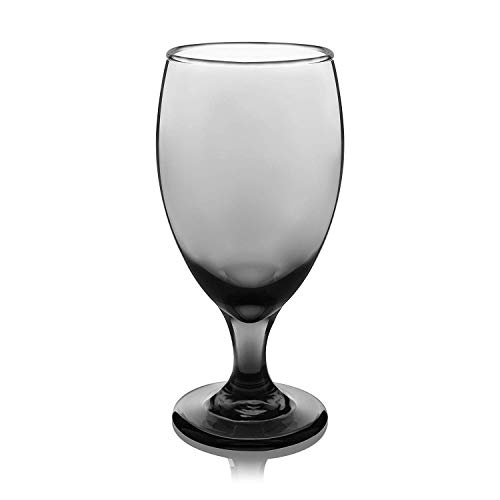 Smokey Goblets Set of 12 Opaque Black 16.25 Tea -