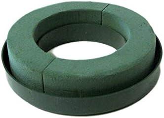 "Oasis Fresh Floral Foam Wreath/Ring Holder 6"" Green - 2pk"