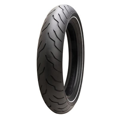 Dunlop American Elite Front Motorcycle Tire 130/80B-17 (65H) Narrow White Wall for Harley-Davidson Electra-Glide Ultra Classic FLHTCU (ABS) 2009-2013