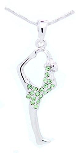 (Violet Victoria & Fan Star Gymnastics Necklace - Cheer Necklace - Dancer Necklace - Scorpion Necklace - Peridot)