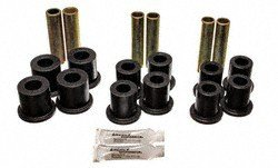 Energy Suspension Black Spring Bushings (Energy Suspension 4.2120G Leaf Spring Bushing Set; Black; Front; Complete Spring And Shackle Set; After Serial #Y20001; Performance Polyurethane;)