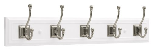 Brainerd R46121Y-WSN-L Five Arch Hook 27-inch Wide Architectural Hat and Coat Rail/Rack