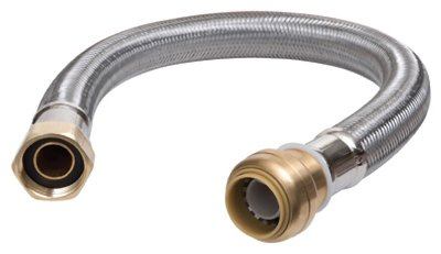 Reliance Worldwide U3088FLEX18LF 18-In. Stainless Steel Braided Water Heater Connector, Lead-Free, 3/4 x 3/4 FIP
