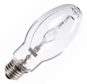 Bulbrite MH50/U/MED Medium E26 Base 50-Watt Enclosed Fixture Metal Halide Pulse Start Light Bulb, Universal Burn 50 Watt E17 Medium Base
