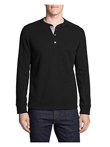 die's Favorite Thermal Henley Shirt, Black Regular L ()