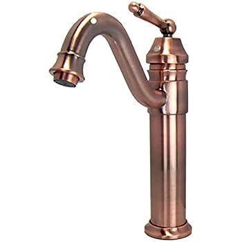 Antique Copper Finish Bathroom Sink Faucet Single Hole Mixer Taps