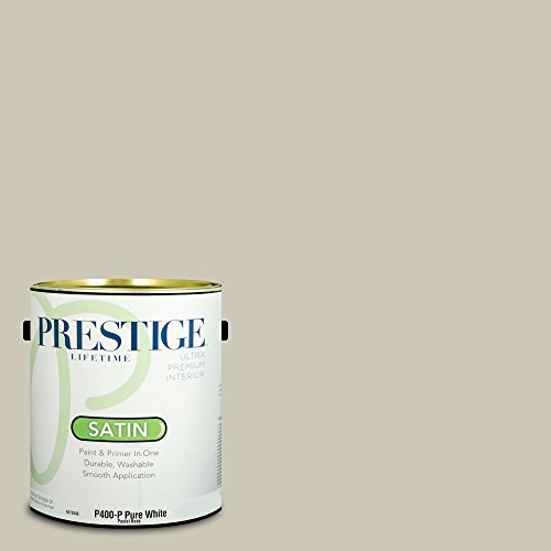 Prestige Paints Interior Paint and Primer In One, 1-Gallon, Satin,  Comparable Match of Benjamin Moore Revere Pewter