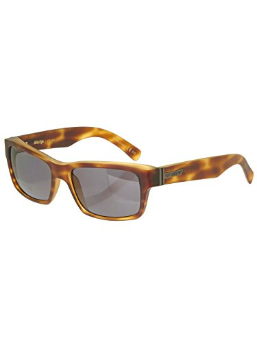 (Von Zipper Light Tortoise Satin-Wildlife Vintage Grey Fulton Wildlife Polarized (Default , Brown))