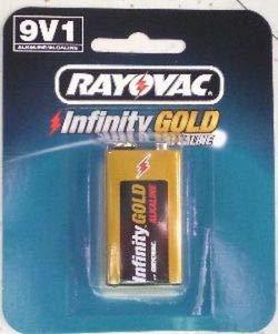 (RAYOVAC BATTERIES 9-Volt Infinity Gold Series Alkaline Battery - Single Pack)