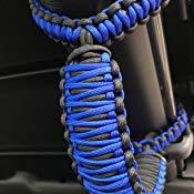 JK Front Roll Bar, Bright Purple Pick Your Colors Happy Jeepinit Jeep Wrangler Roll Bar Grab Handles Set of 2 Paracord