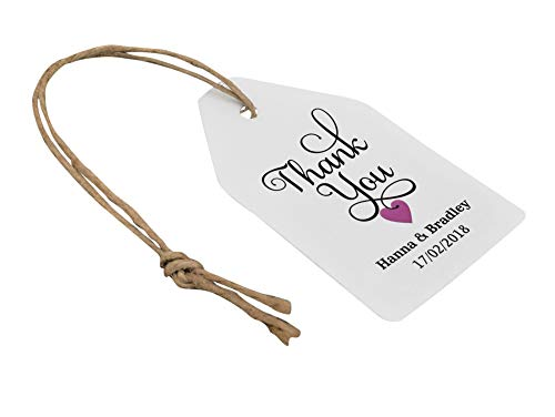 (Personalized White Paper Hang Tags DIY Arts and Crafts Supply Festival Gift Hanging Tag with Twine - Pack of 1000)