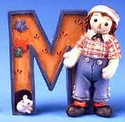 Raggedy Ann and Andy - M Is For Mouse Decorative Letter ()