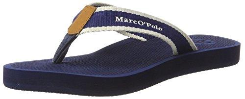 Marc O'Polo 70314031001611 Beach Sandal - Sandalias Mujer Azul (Dark Blue)