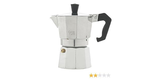 Home Caldo Caffè -Cafetera Moka para Espresso, 3 Tazas, Aluminio, Gris, 15 x 8,5 x 15,5 cm: Amazon.es: Hogar