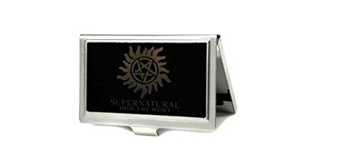 Pentagram Wallet (Buckle-Down Business Card Holder - Winchester Pentagram/SUPERNATURAL-JOIN THE HUNT Reverse Brushed - Small)