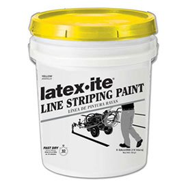 Latex-ite 5040 5 Gal. Line Striping Paint, Lead-Free, Fast Dry, Yellow, 1 Each by Latex-Ite